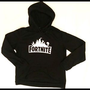 Sweaters - Black Fortnite Hoodie Size Large